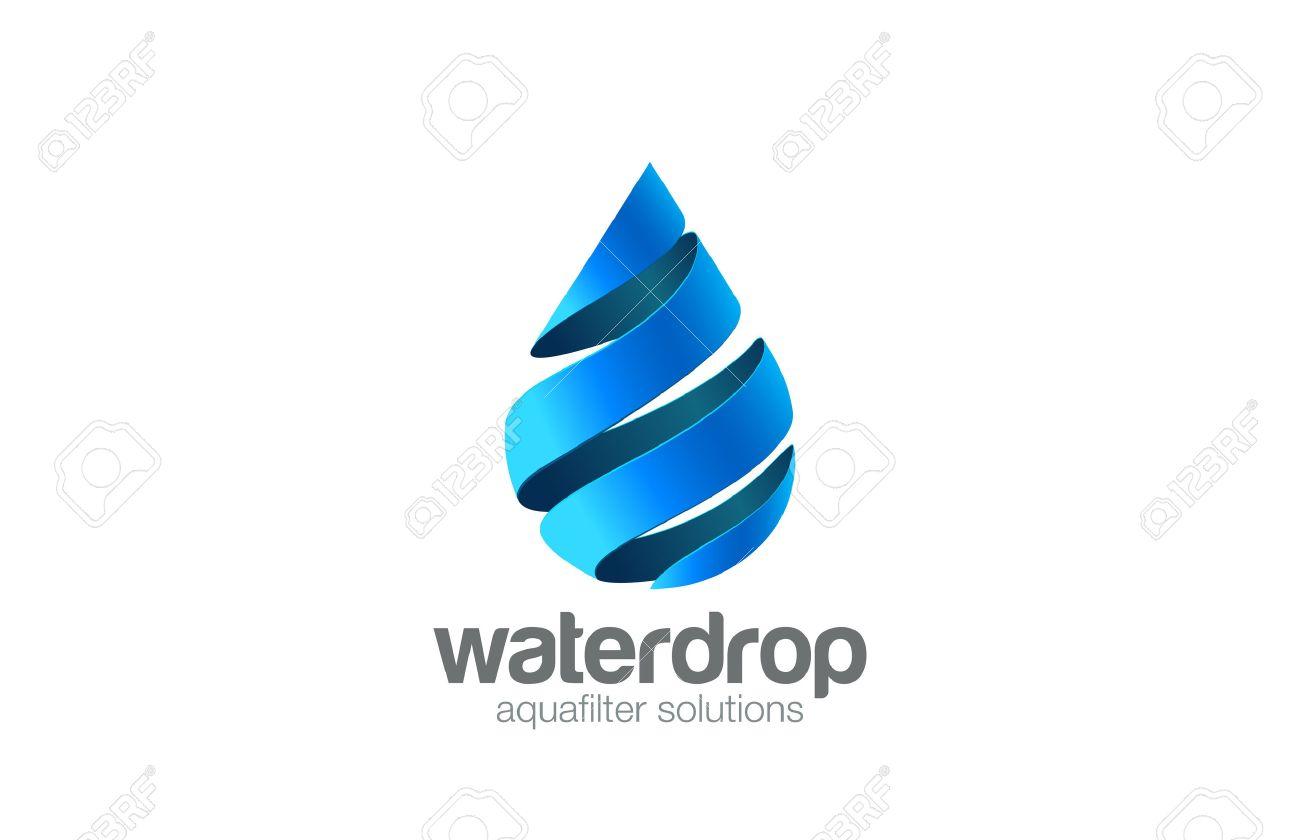 oil water drop logo aqua vector template waterdrop logotype