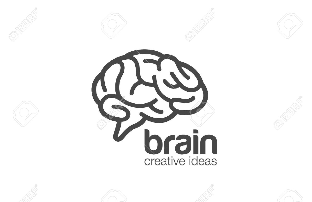 brain logo design vector template generate idea brainstorming logotype concept icon stock vector - Logo Design Ideas Free