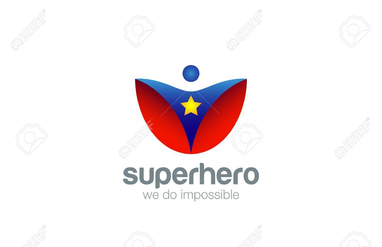 スーパー ヒーローのロゴ抽象的なデザイン ベクトル テンプレートです
