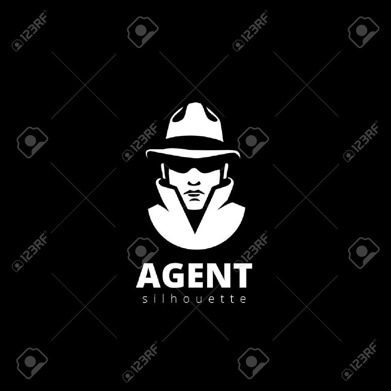 agent head silhouette logo design vector template detective royalty free cliparts vectors and stock illustration image 45457245 agent head silhouette logo design vector template detective