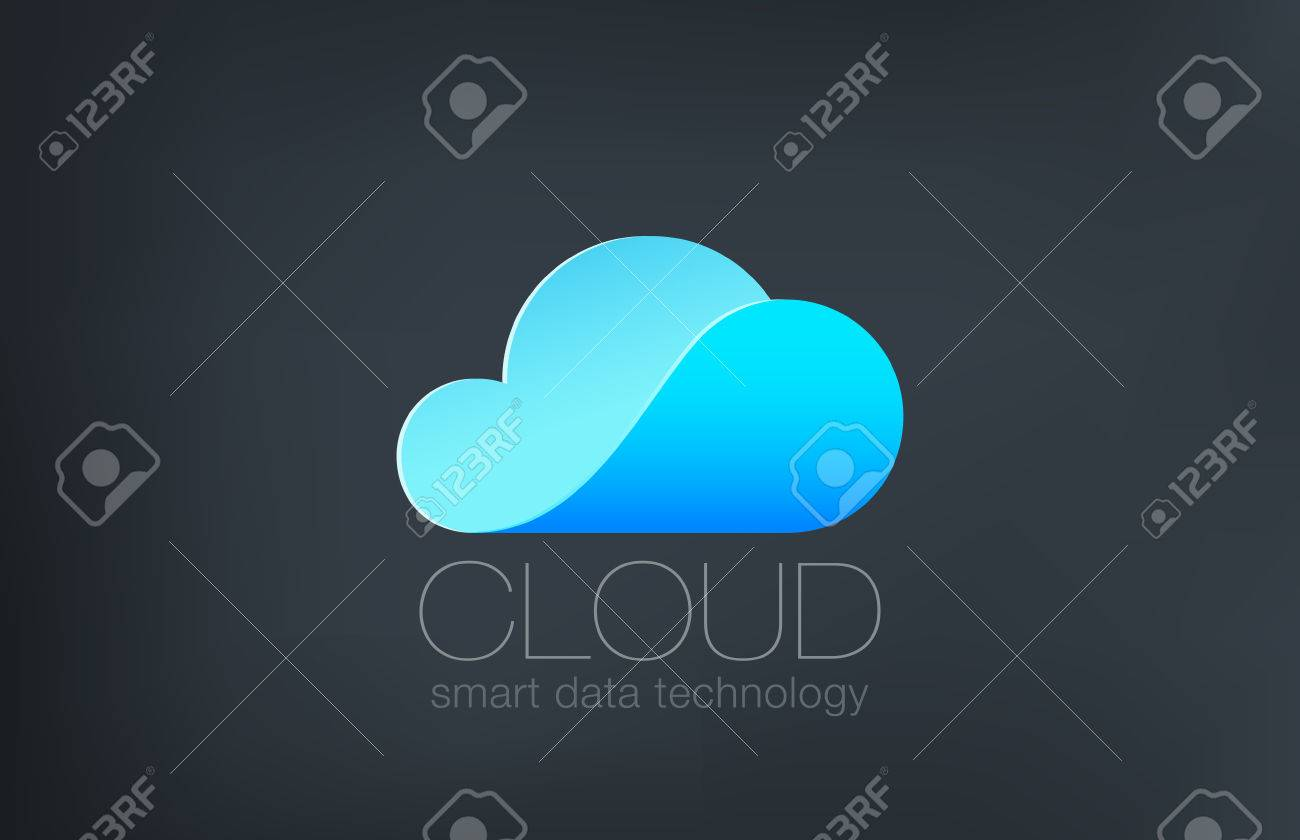 Cloud computing Logo design vector template. Creative technology data solutions logotype concept. Weather icon. - 45457243