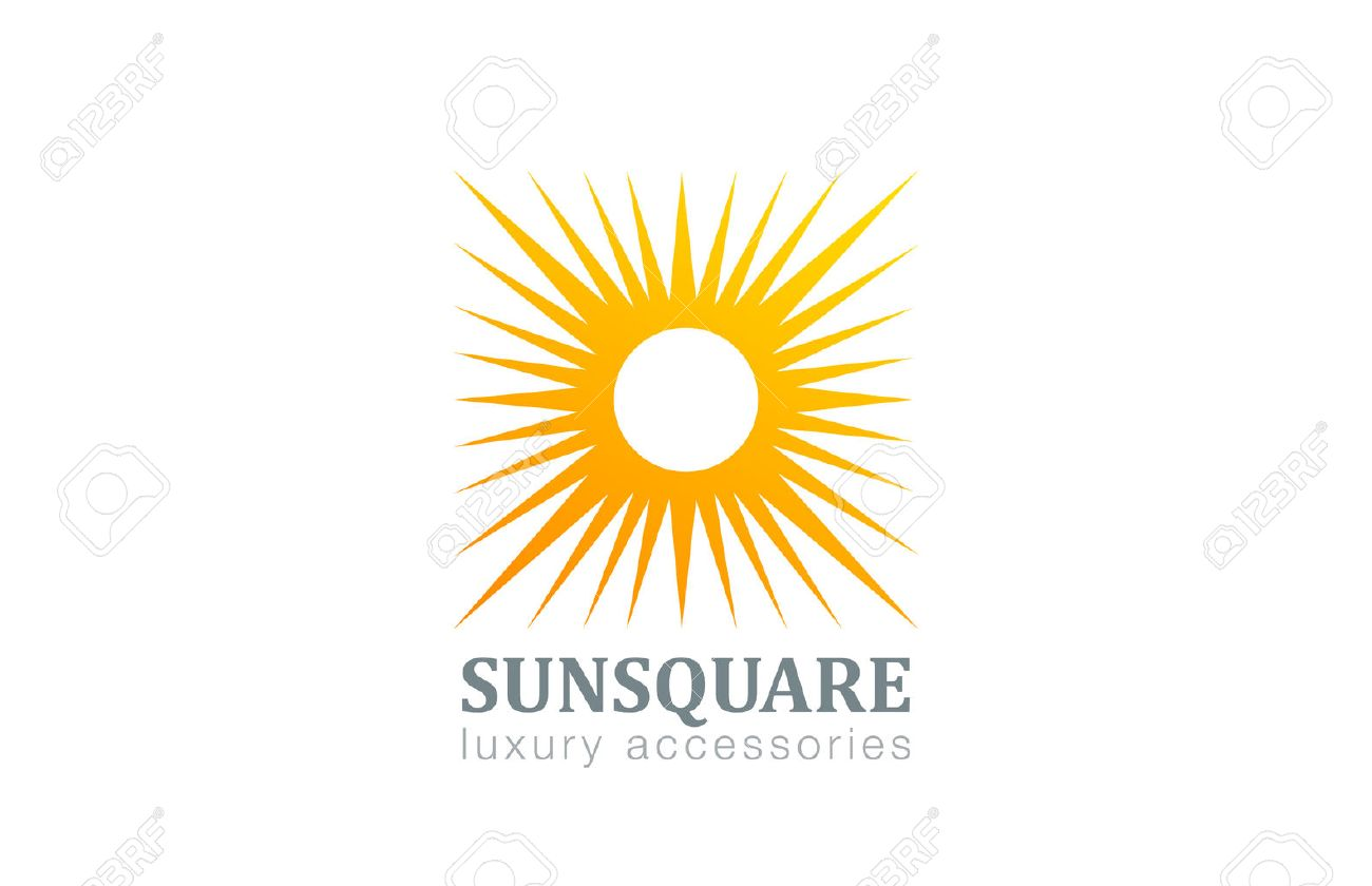 Sun logo vintage square shape design vector template star with rays sun logo vintage square shape design vector template star with rays logotype abstract concept icon buycottarizona Images