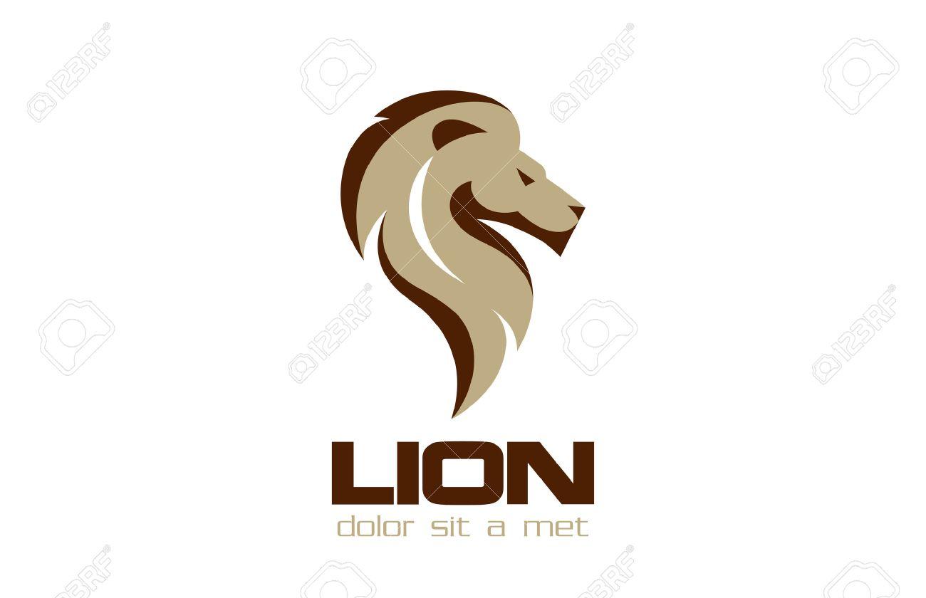 Lion Logo design vector template. - 45457251