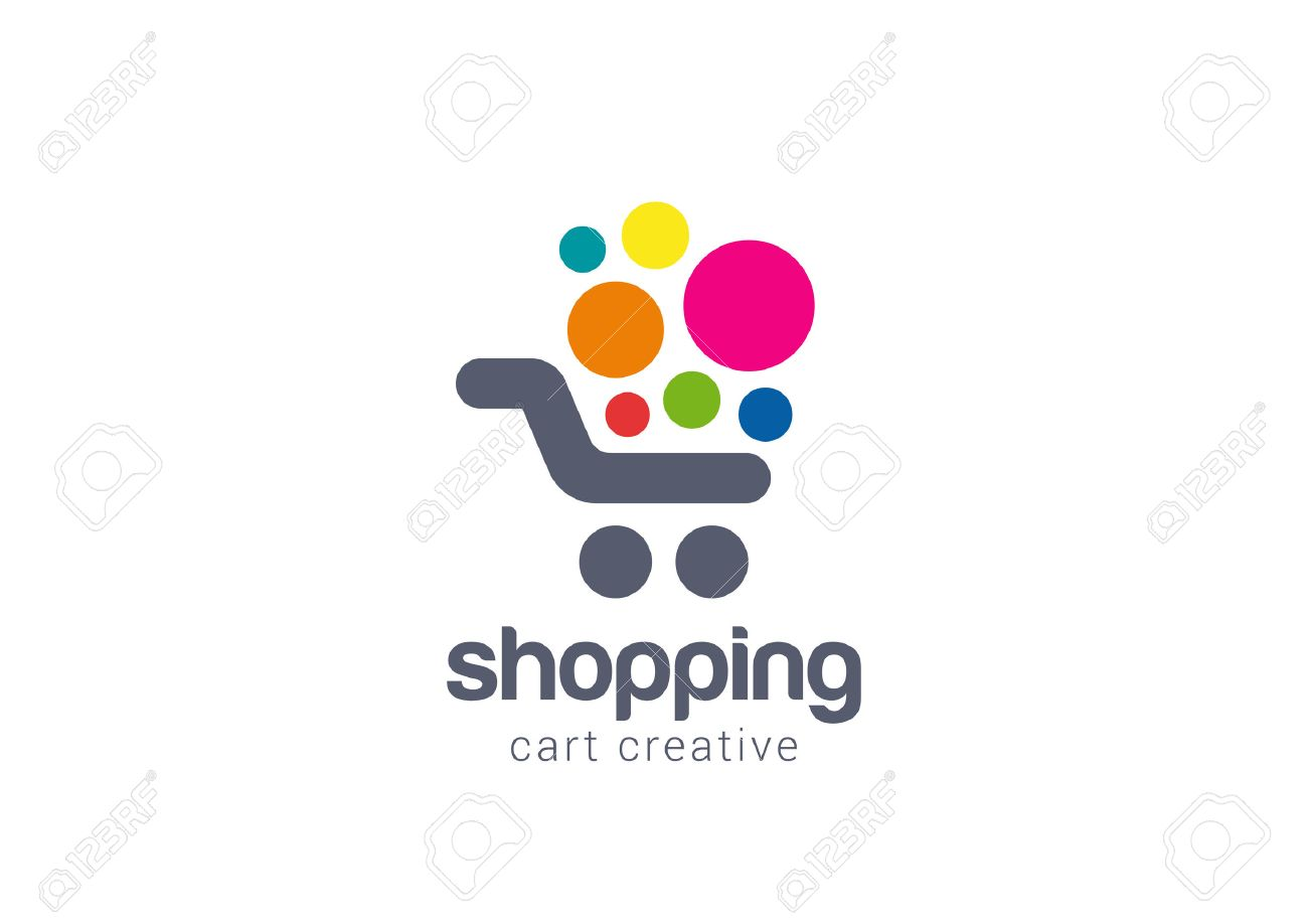 Shopping cart Logo design vector template concept icon. Logotype for online store, mall, sale etc. - 45457253