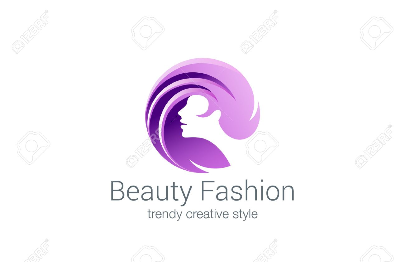 Beauty Fashion Spa Logo Circle Design Vector Template Haircut