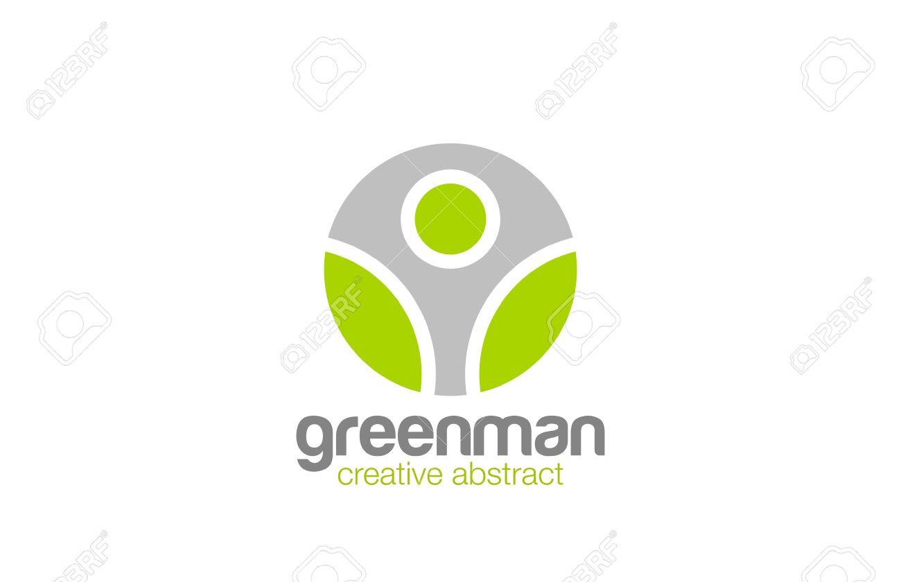 Homem Abstrato Logo Naturais Modelo De Design Vector Eco Organic. Saudável  Natureza Estilo De Vida Part 72