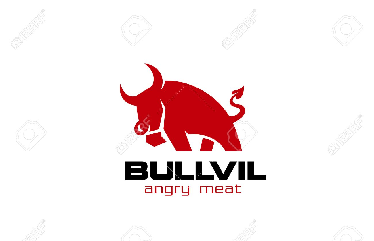 red bull logo design vector template angry bull with devil s rh 123rf com red bull free vector red bull logo vector download