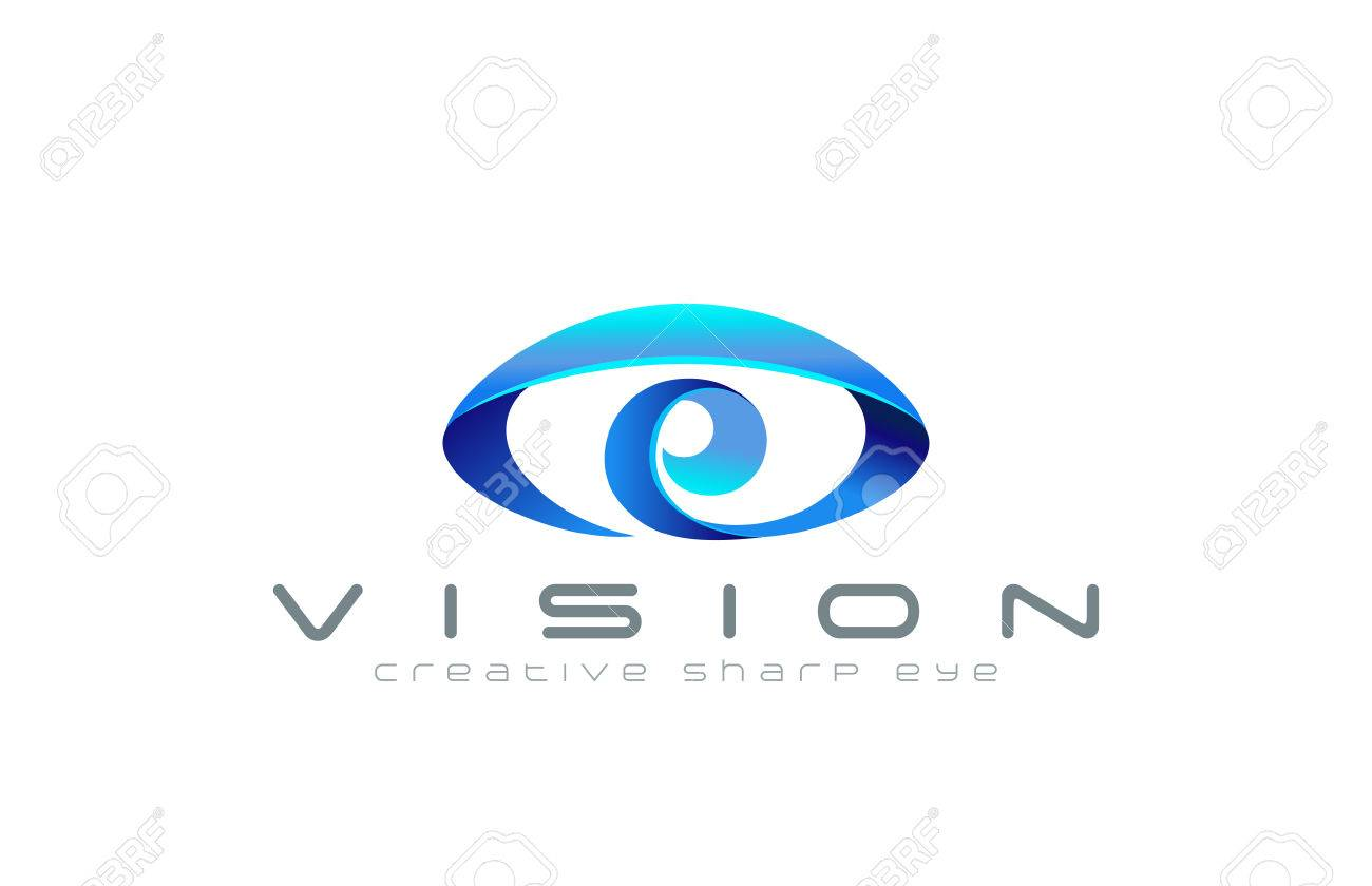 eye logo abstract design vector template creative vision logotype