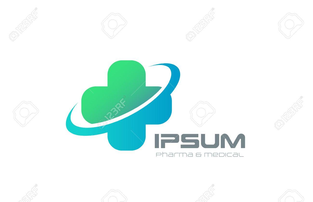 Medical cross abstract Logo design vector template. Pharmacy, Medicine, Clinic Logotype concept. Pharmaceutical healthcare icon. - 45458122