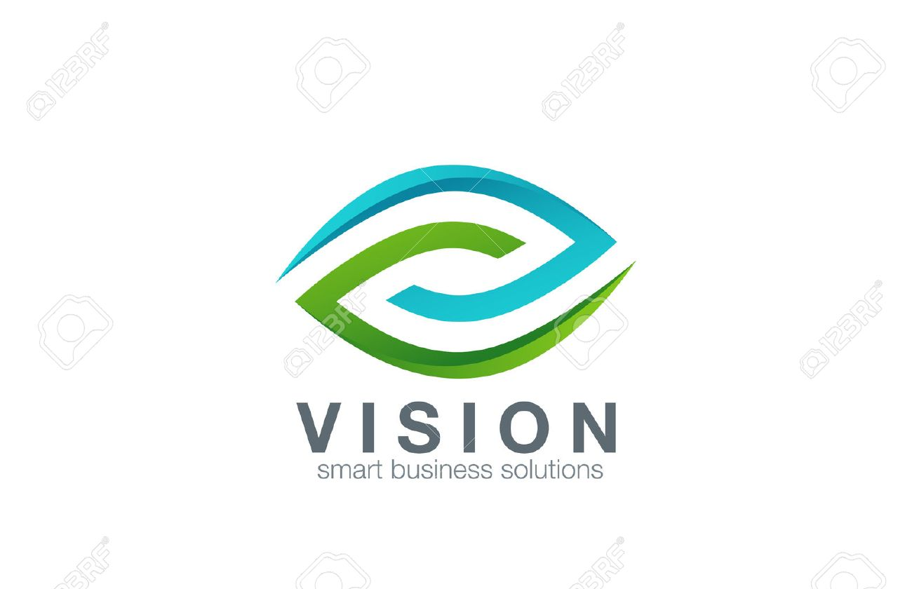 eye logo abstract design vector template business technology
