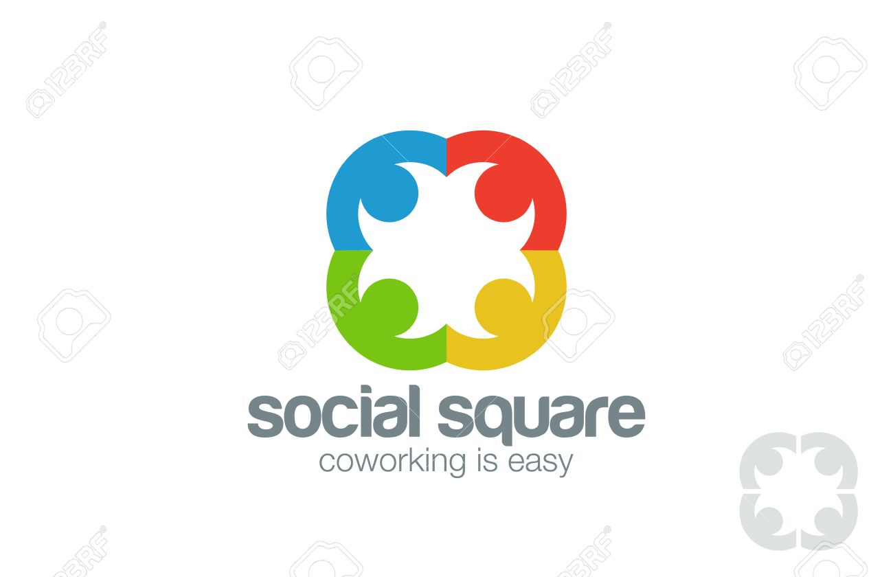 Social Logo Design Vector Template. People Holding Hands Logotype ...