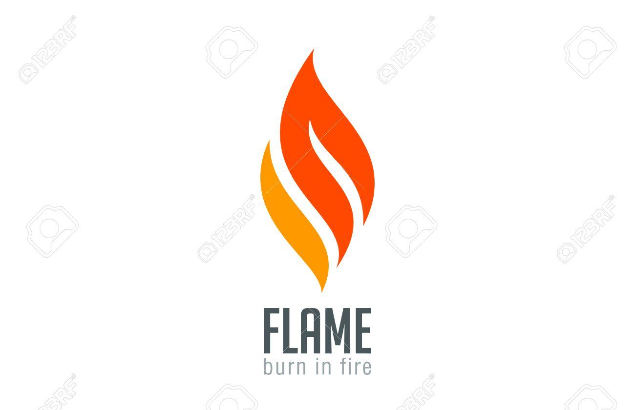 Fire Flame Modele Logo Design Vecteur De Luxe Red Graver Bijoux A La Mode Logotype Icone Concept Clip Art Libres De Droits Vecteurs Et Illustration Image 45458929