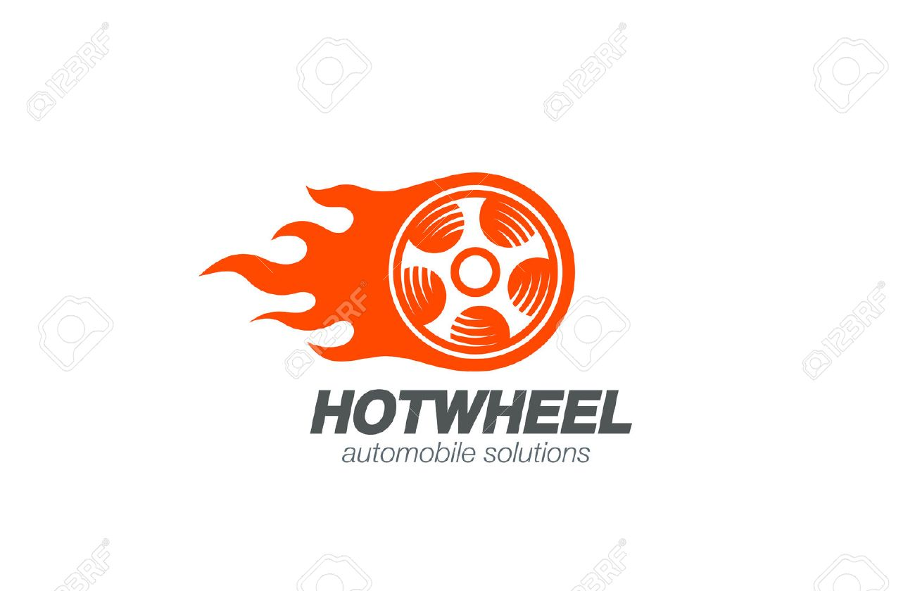 Wheel In Fire Flame Logo Design Vector Template Car Logotype Concept Royalty Free Cliparts Vectors And Stock Illustration Image 45458939