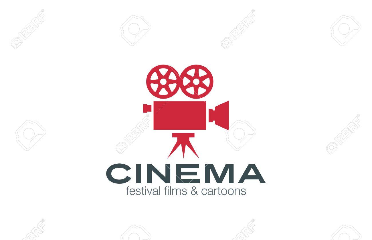 Vintage Camera Logo design vector template. Retro Cinema Logotype. Film, Video, Motion design studio, Film Producer, Shooting studio emblem icon. - 45458936