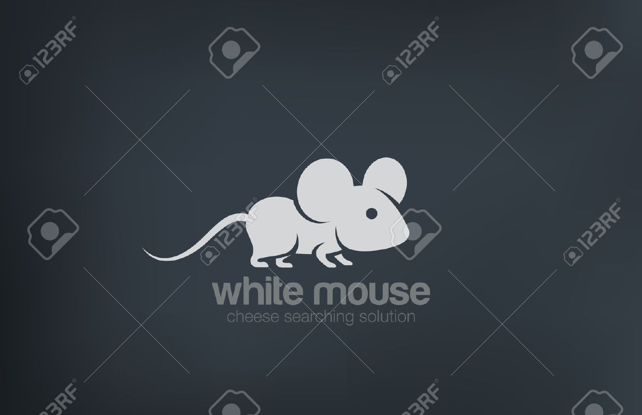 Abstract Cute Mouse Silhouette Logo design vector template. Rat logotype concept icon. - 45460026