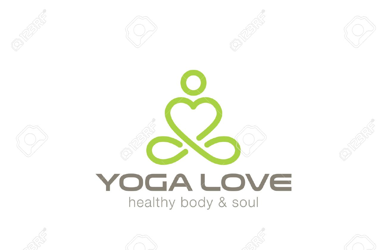 Yoga Logo Design Vector Template Heart Shape Inside Like Love Royalty Free Cliparts Vectors And Stock Illustration Image 45460029