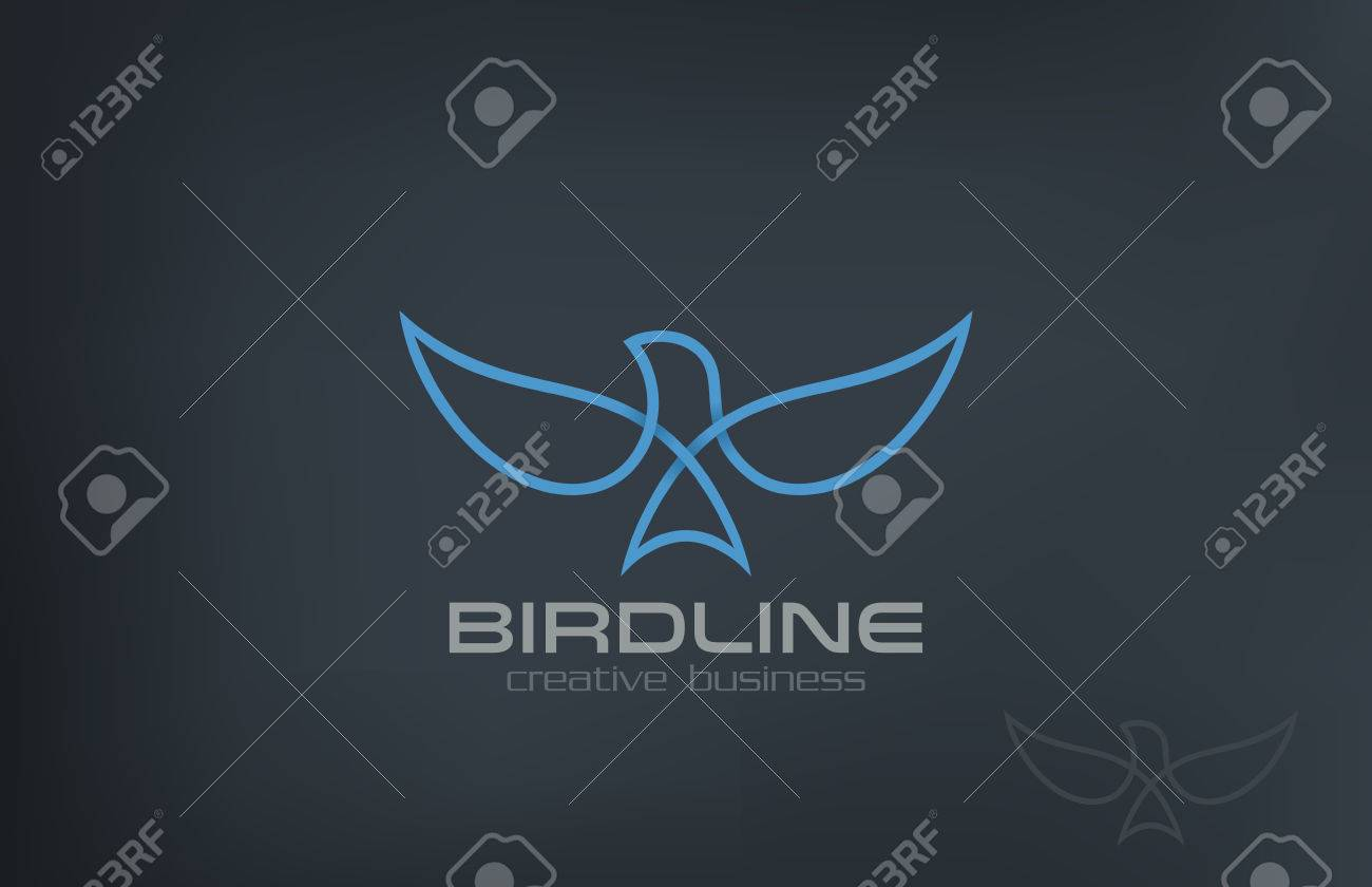 Abstract Flying Soaring Bird Logo design vector template. Business Corporate Luxury Success symbol Logotype icon. - 45460086