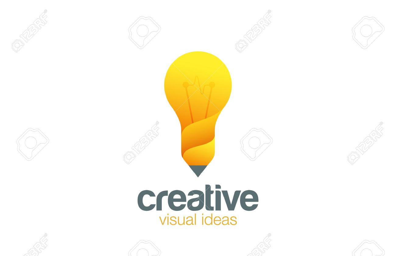 lamp pencil logo creative idea symbol vector template bright ideas for your business idea design studio wwwideadesignstudiocom - Idea Design Studio