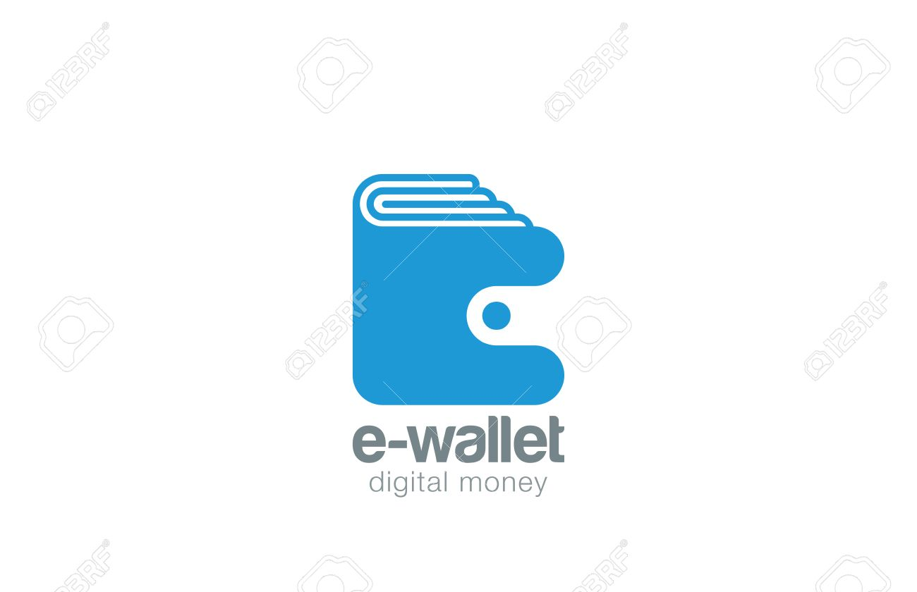 Wallet Logo Design Vector Template Negative Space Style. Pocketbook ...
