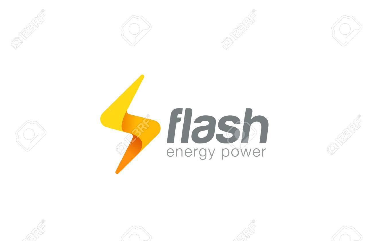 Lighting Bolt Flash Logo Design Vector Template Fast Quick Rapid Icon Concept Symbol Thunderbolt