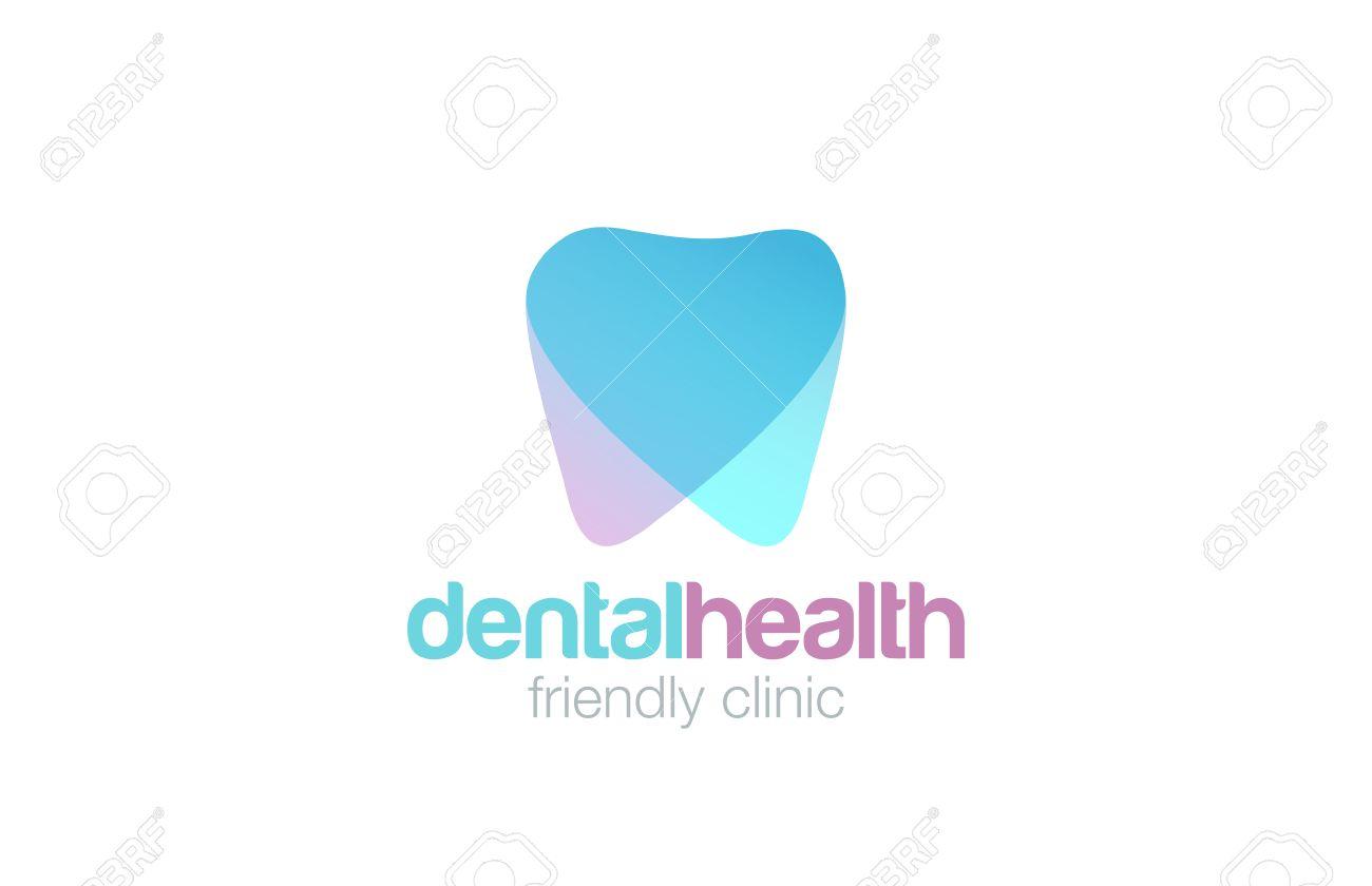Dent Logo design vector template. Dental clinic Logotype concept icon. - 48324398