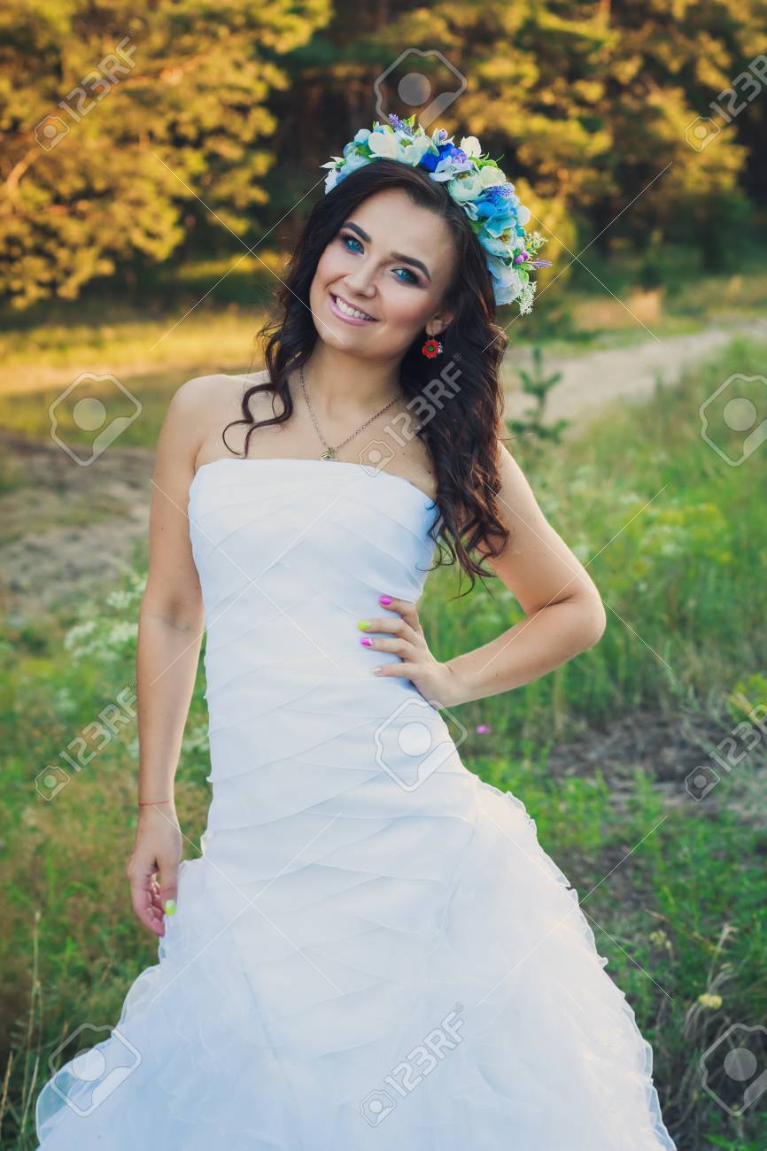 Beautiful ukraininan bride with large flower crown stock photo beautiful ukraininan bride with large flower crown stock photo 62482945 izmirmasajfo