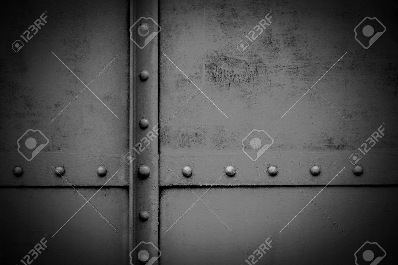 old metal plate - background - 123614347