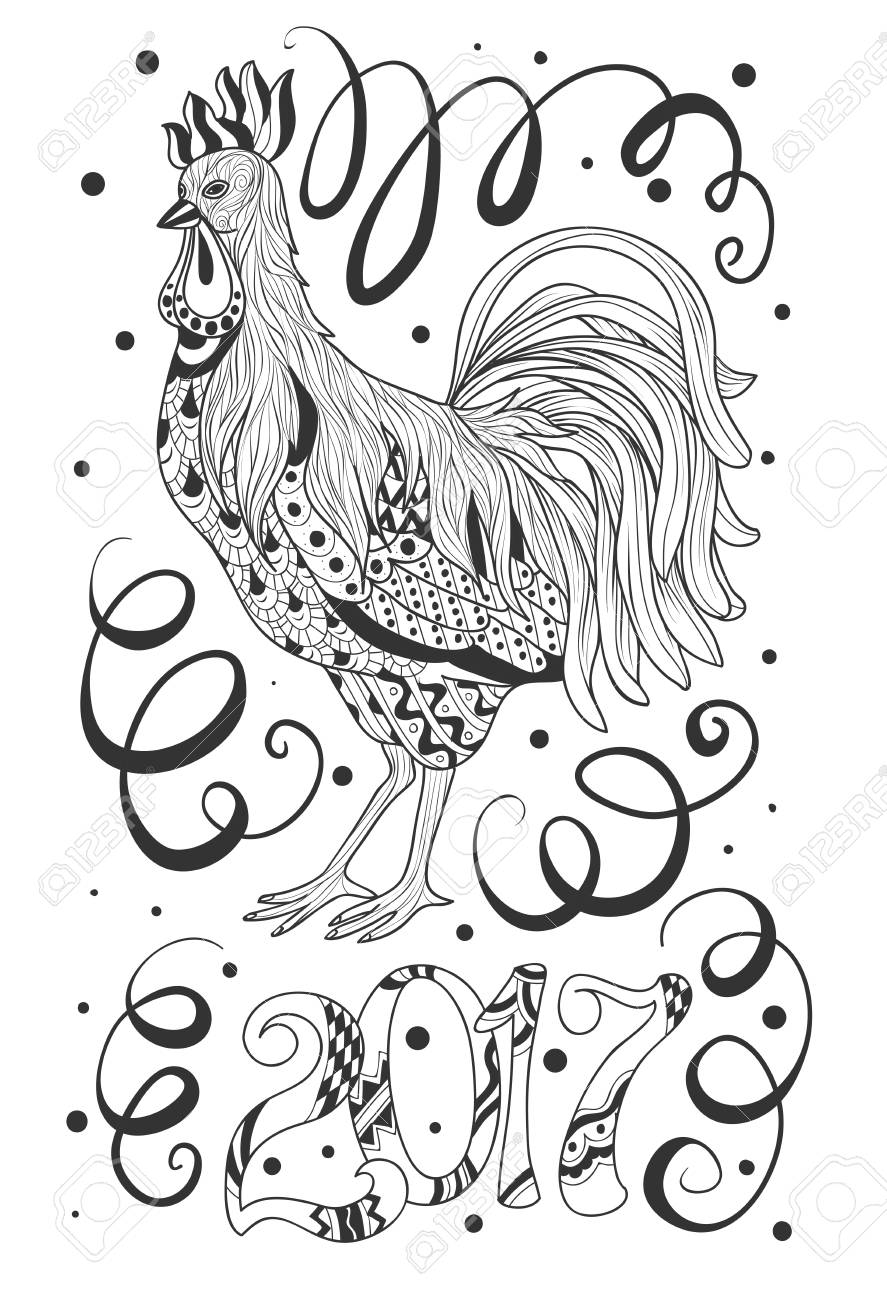 Meaning of chinese new year animals chinese new year of the pig symbol of chinese new year rooster sketch cartoon cute hand drawn doodle happy new meaning buycottarizona Image collections