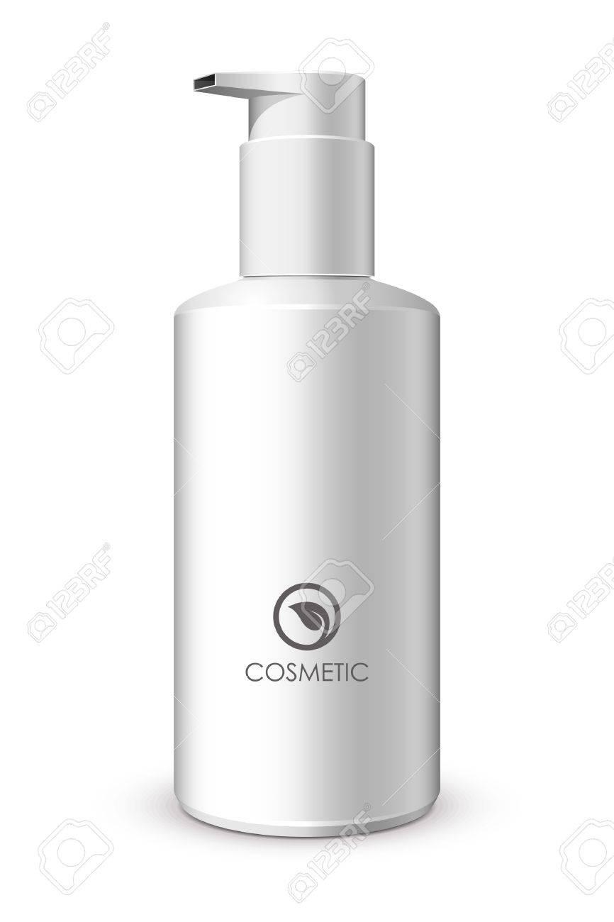 Foam Pump Bottle White Stock Vector - 13779806
