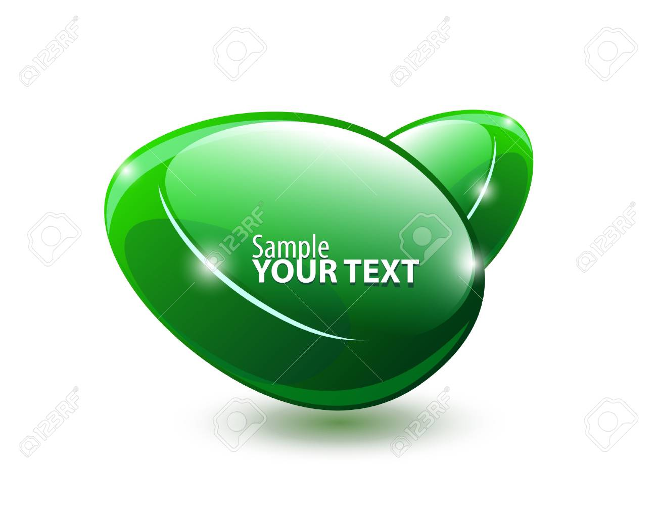Abstract Shiny Glass Banner Green Stock Vector - 13779825