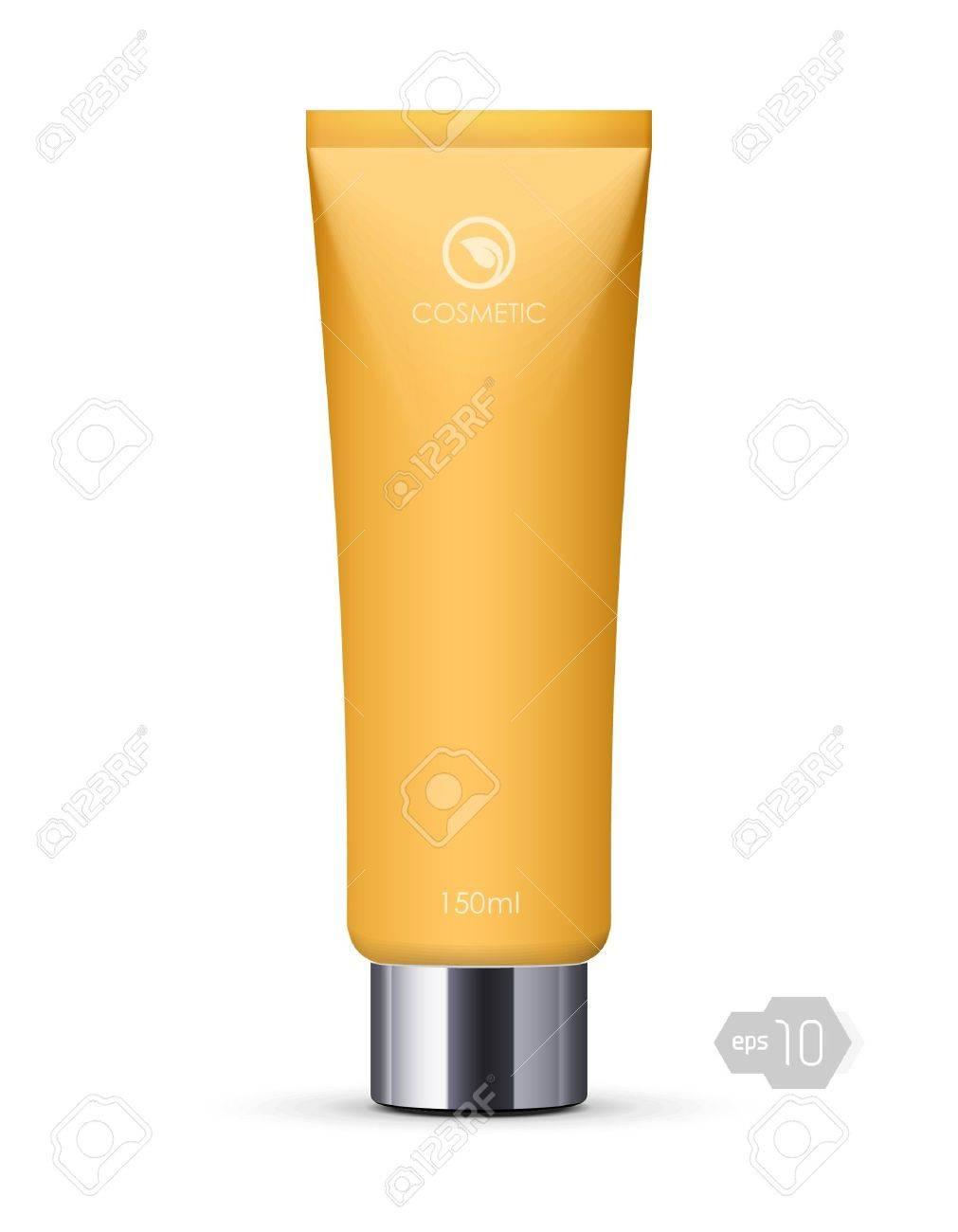 Yellow Long Clean Tube Of Cream  Vector Version Stock Vector - 14326492