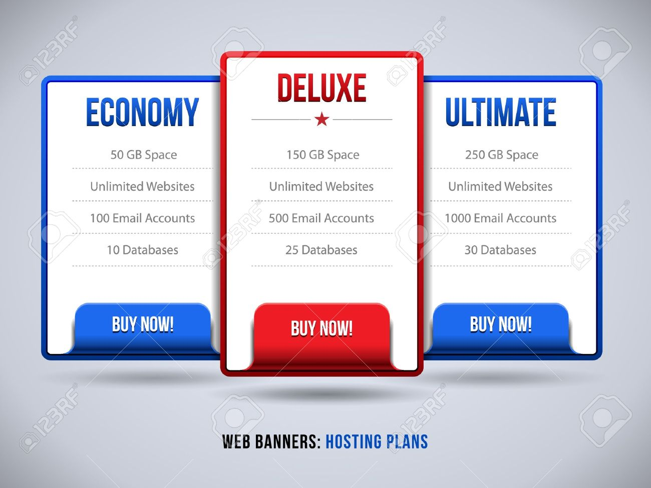 Design a banner for your website - Web Banners Boxes Hosting Plans Or Pricing For Your Website Design Banner Order Button