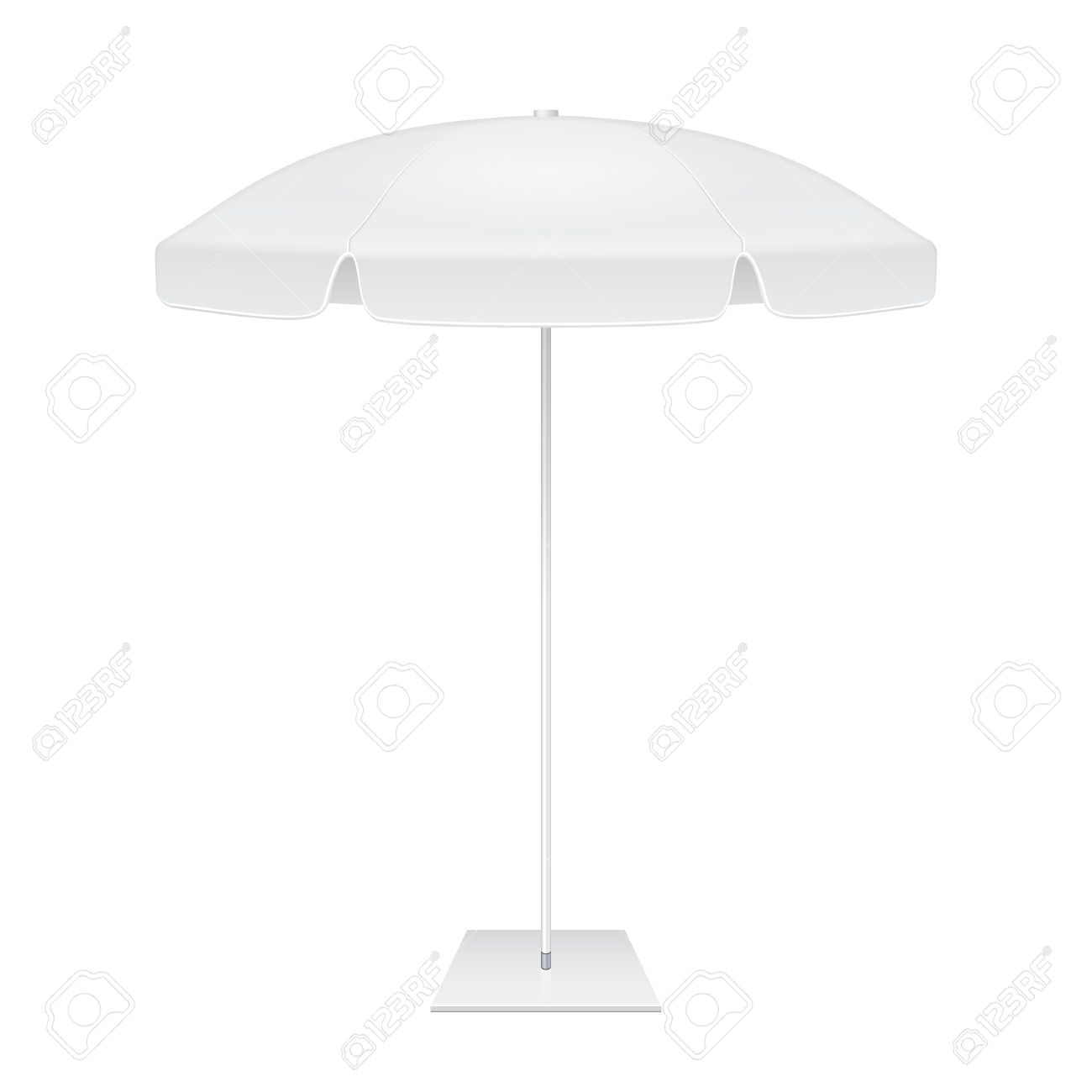 Promotional Square Advertising Outdoor Garden White Umbrella – Umbrella Template
