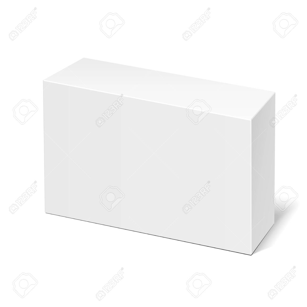 Mockup Product Cardboard Plastic Package Box. Illustration Isolated On White Background. Mock Up Template Ready For Your Design. Vector EPS10 - 123206669