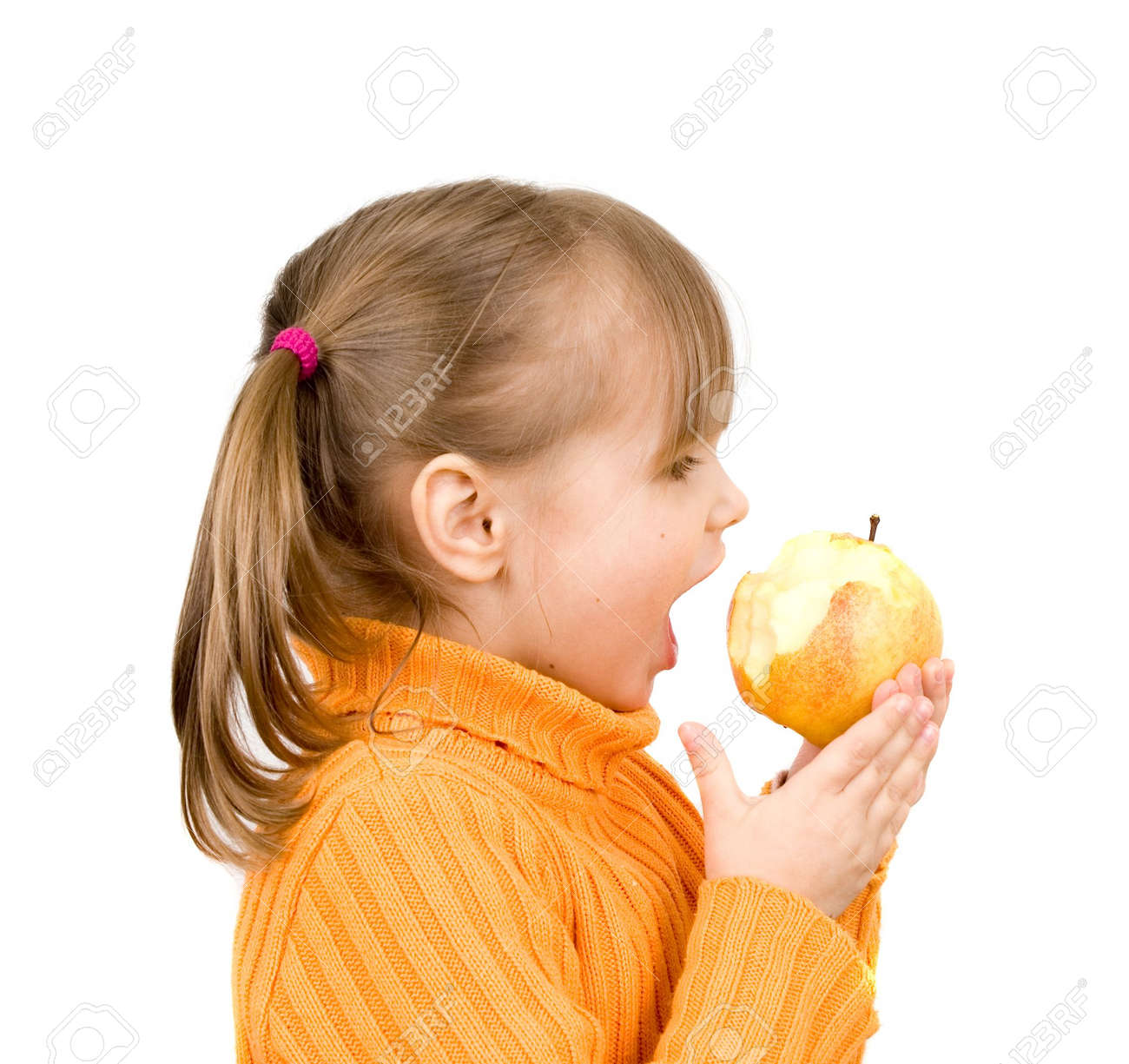 girl with apple Stock Photo - 4538160