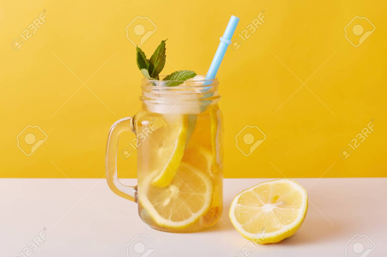 Iced Tea In Pitcher Summer Cold Drink With Lemon And Mint Refreshing Stock Photo Picture And Royalty Free Image Image 151541475