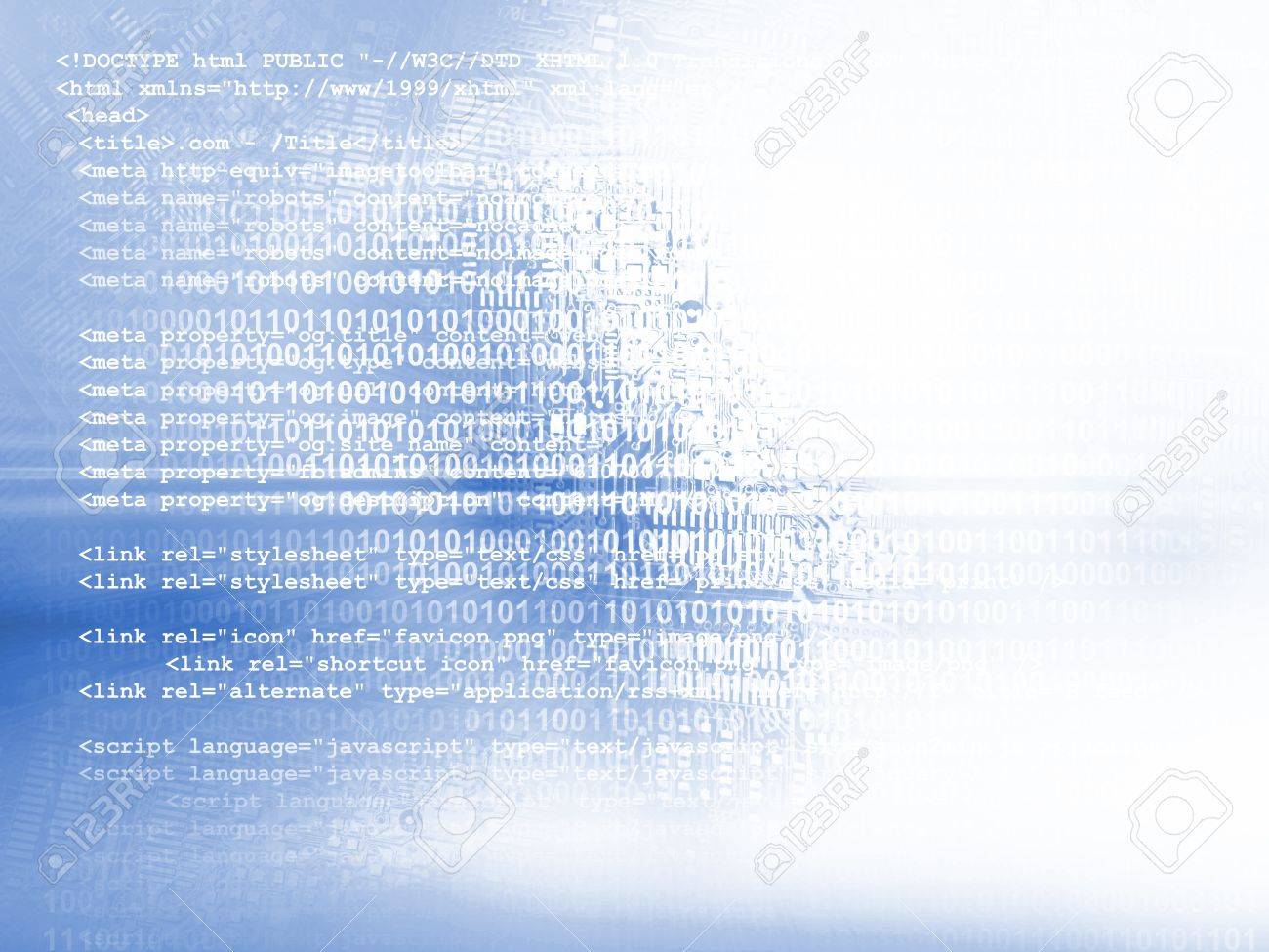 Source code technology background Stock Photo - 14633950