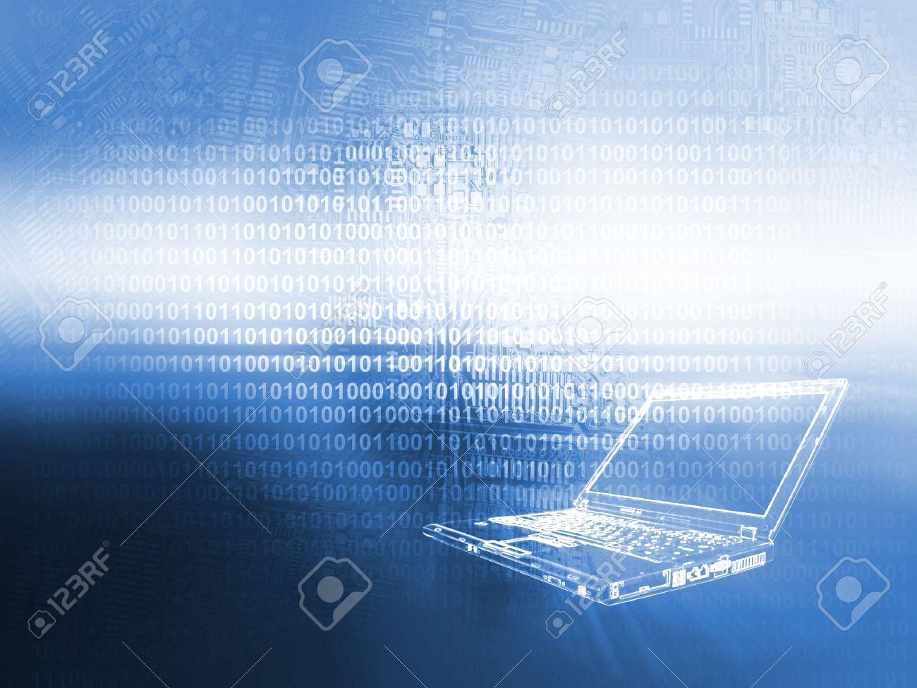 Laptop technology background - 14786696