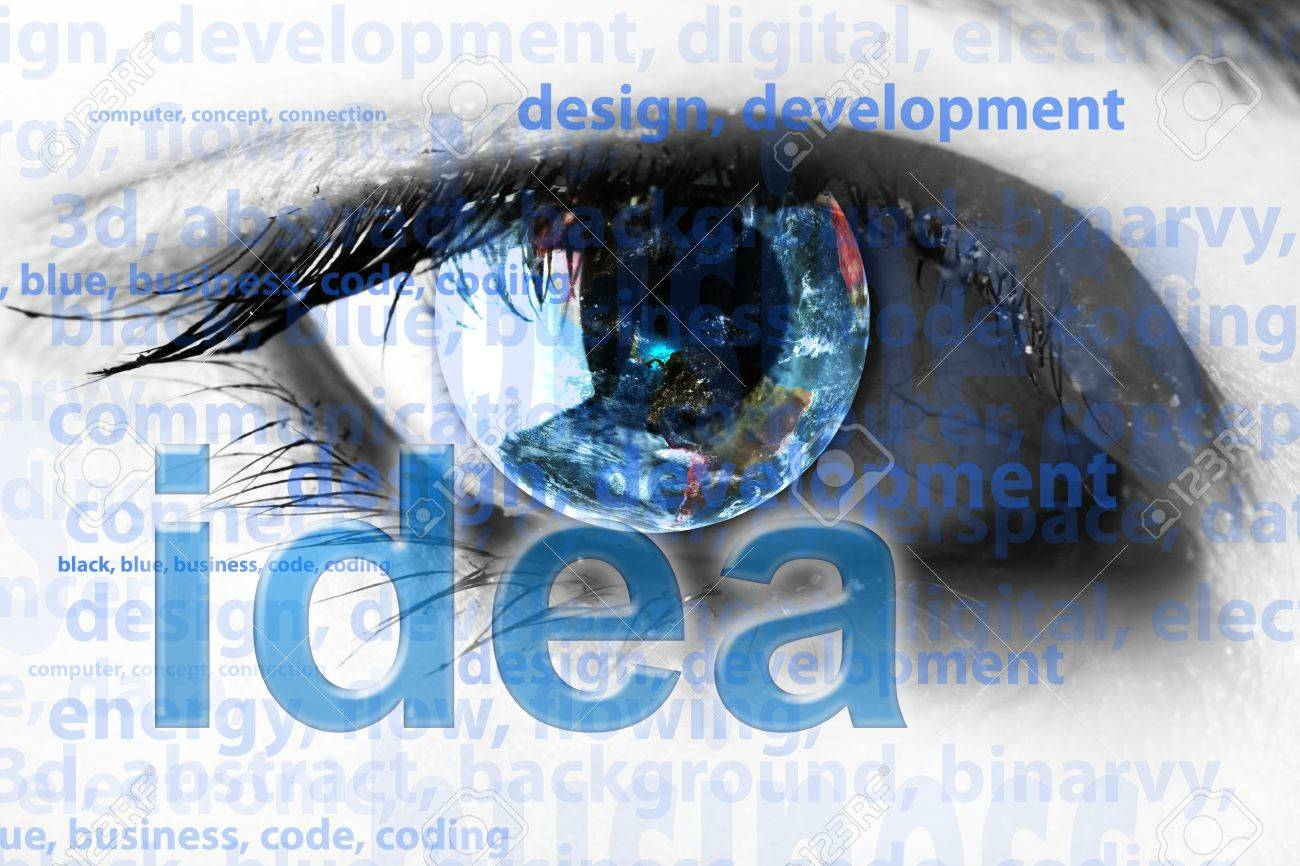 Background with eye and words - internet concept Stock Photo - 14976968