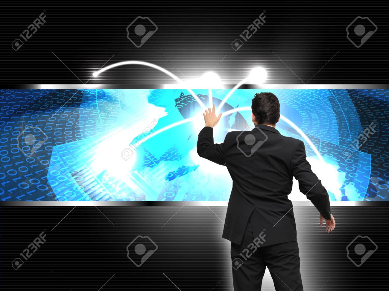 World business connection concept Stock Photo - 15585487