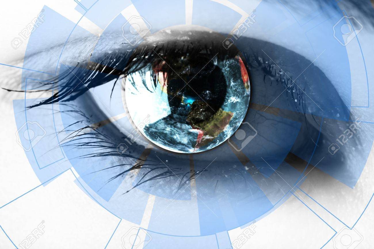 technology in the eye - technology concept - 17322952