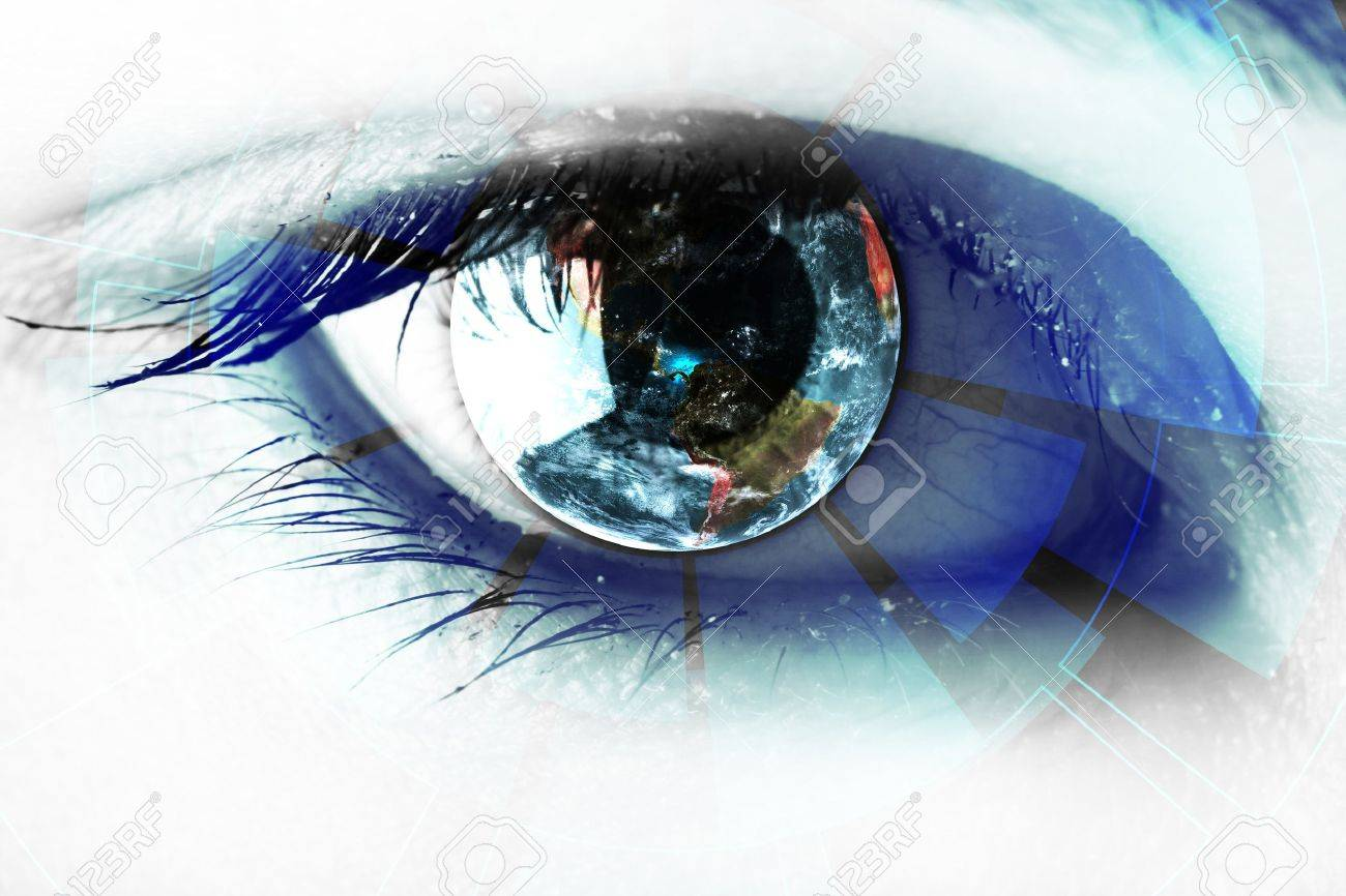 technology in the eye - technology concept - 17664426