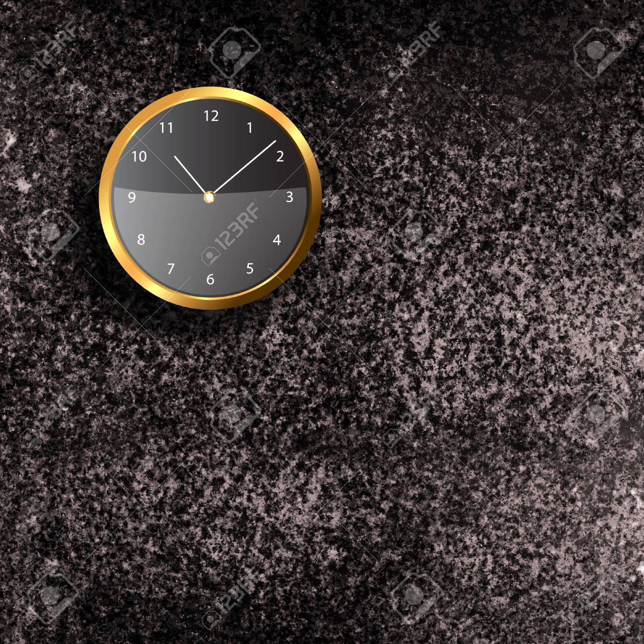 Modern Clock on the textured wall inside the room Stock Photo - 20002676