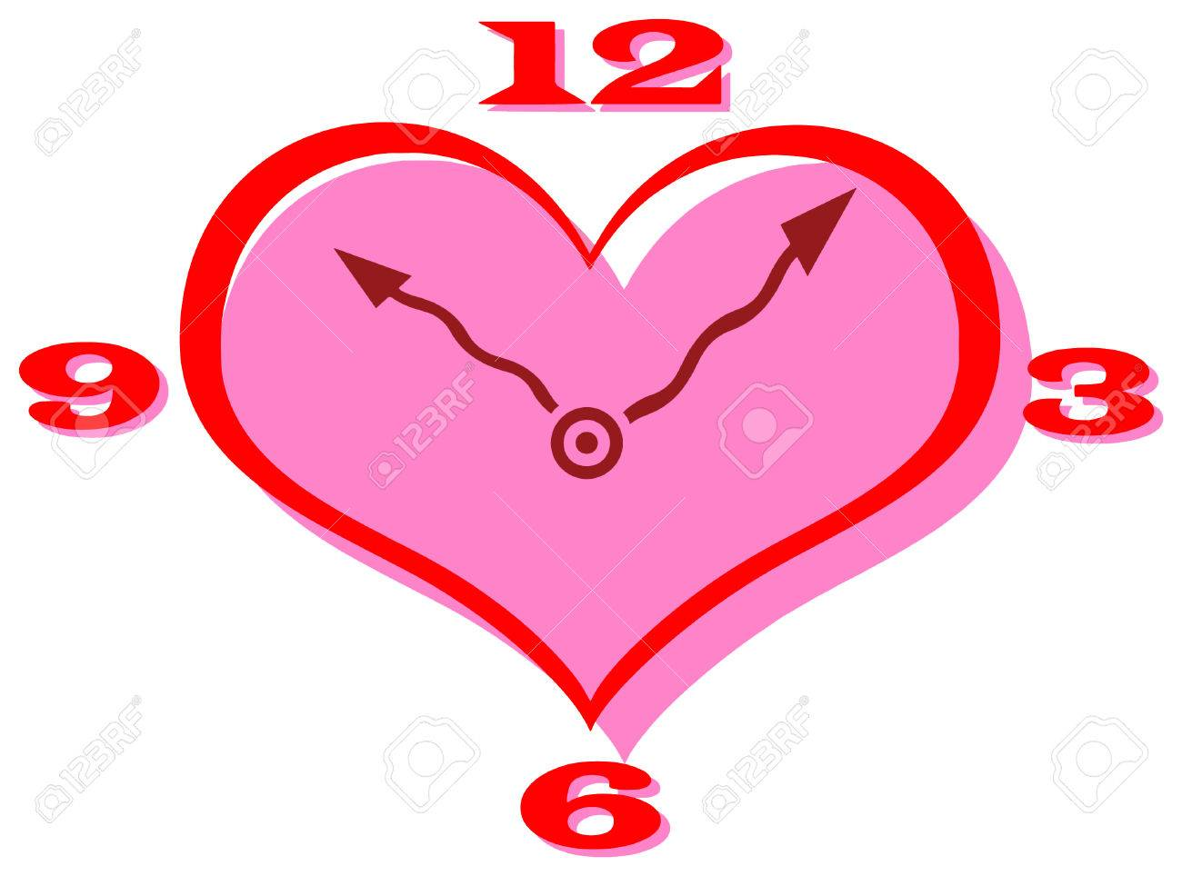 vector clip art of a heart shape clock with curly hands royalty free rh 123rf com heart vector file heart vector download free
