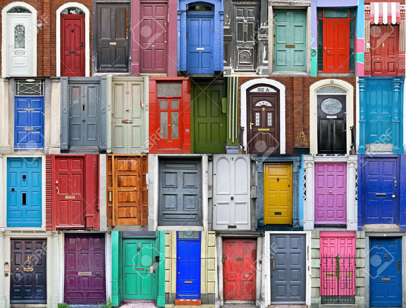 Doors of Dublin Ireland Stock Photo - 43715354 & Doors Of Dublin Ireland Stock Photo Picture And Royalty Free Image ...
