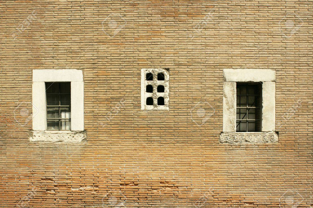 Beautiful Architectonic Detail Of An Antique Brick Wall With.. Stock ...