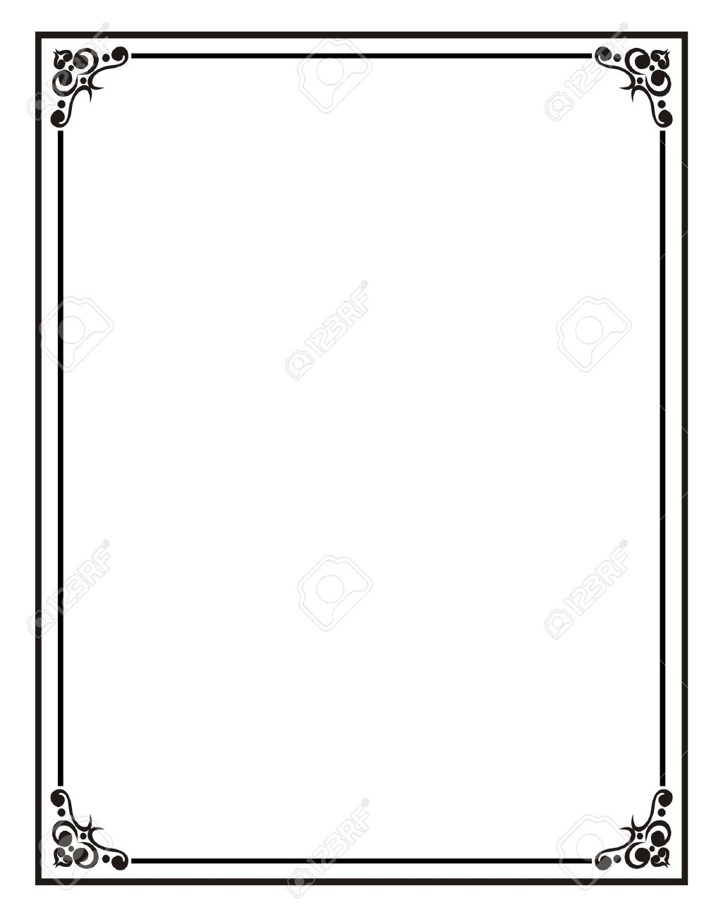 Blank Frame Stock Photo, Picture And Royalty Free Image. Image 7463567.