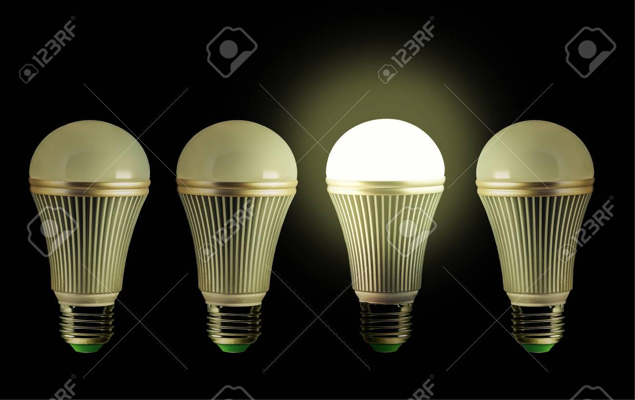 de LEDuno ellos con de idea bombillas iluminó la Concepto de la se fila K5TF1cluJ3
