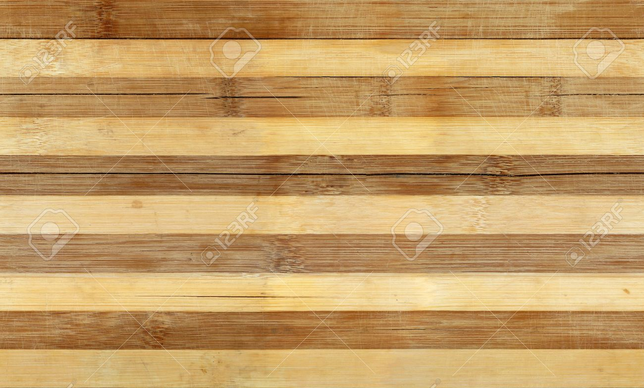 Striped Bamboo Wood Board Seamless Tiled Texture Background Stock