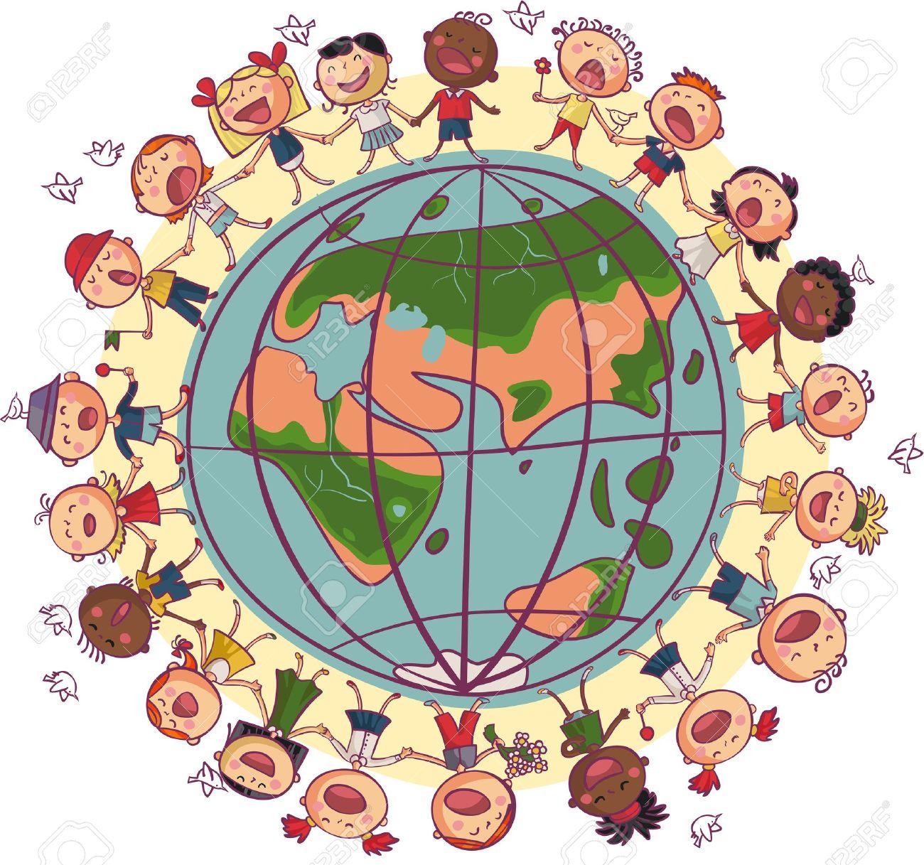 ronde enfants Enfants est la danse et le chant en cercle autour de la terre